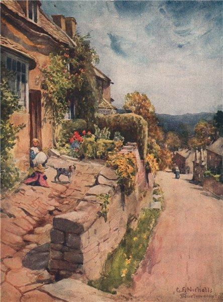 Associate Product BOURTON-ON-THE-HILL. The village. Gloucestershire. Cotswolds. GF Nicholls 1908