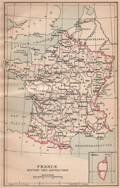 Associate Product FRANCE < 1789. Provinces before the Revolution 1917 old antique map plan chart