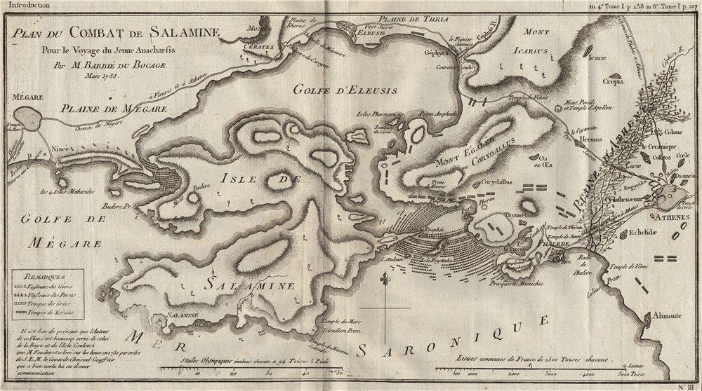 Battle Of Salamis 480bc Combat De Salamine Greece Athens