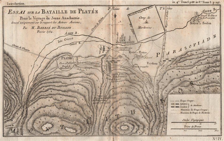 Associate Product BATTLE OF PLATAEA 479BC. Bataille de Platée. Greece Xerxes. BOCAGE 1790 map