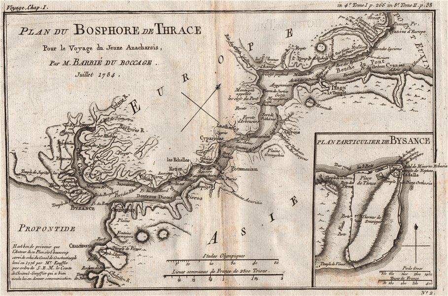 "Associate Product BOSPHORUS ""Bosphore Thrace"" Bysance (Byzantium). Ancient Turkey. BOCAGE 1790 map"