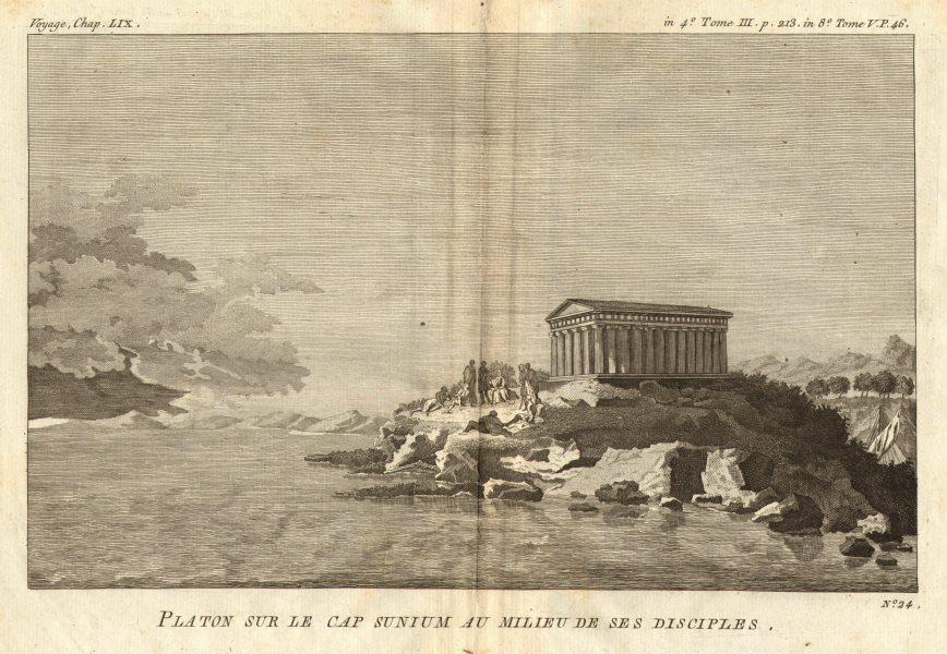 ANCIENT GREECE. Plato & his disciples at Cape Sounion. Temple of Poseidon 1790