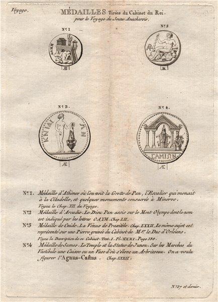 Associate Product ANCIENT GREEK MEDALS COINS. Arcadie (Arcadia) Cnide Samos 1790 old print