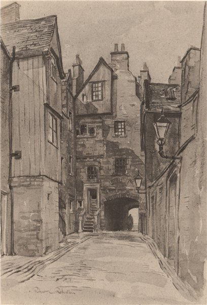 Associate Product EDINBURGH. Bakehouse Close. Scotland. By Robert C. Robertson. ROBERTS 1952