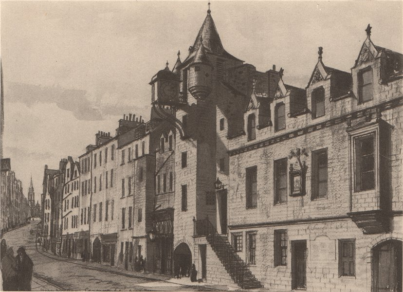 Associate Product EDINBURGH. The Canongate. Scotland. By James Miller 1952 old vintage print