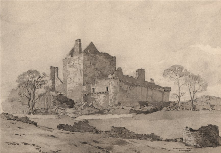 Associate Product EDINBURGH. Craigmillar Castle. Scotland. By G. P. H. Watson 1952 old print