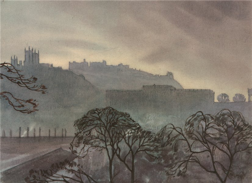 Associate Product EDINBURGH. Edinburgh. Scotland. By Sir John Sitrling Maxwell, Bart 1952 print