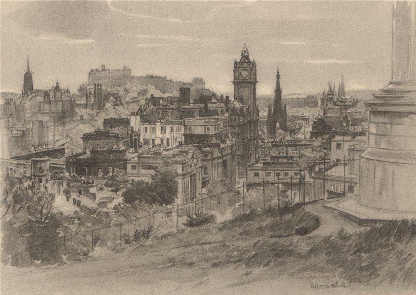 Associate Product EDINBURGH. View from Calton Hill. Scotland. By Robert C Robertson. ROBERTS 1952