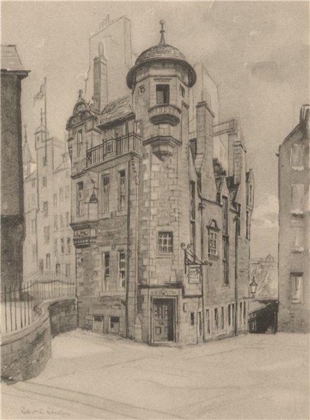Associate Product EDINBURGH. Lady Stair's house. Scotland. By Robert C. Robertson. ROBERTS 1952