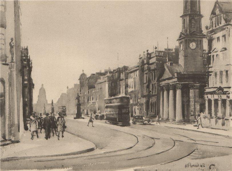 Associate Product EDINBURGH. November Day, George Street. Scotland. By Alan Ian Ronald 1952