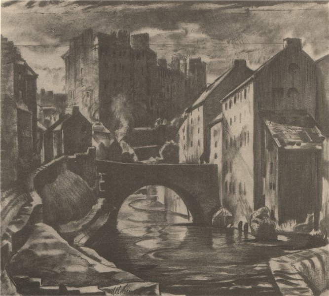 Associate Product EDINBURGH. The Old Dean Bridge. Scotland. By A. Bruce Thomson 1952 print