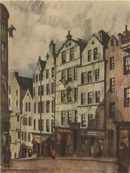 Associate Product EDINBURGH. The West Bow. Scotland. By James Miller 1952 old vintage print