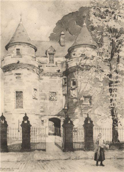 Associate Product FALKLAND. The Palace. Fife. Scotland. By G. P. H. Watson 1952 old print