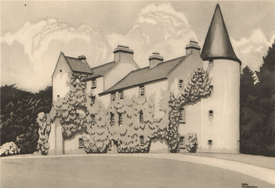 Associate Product FERNIE. The Castle. Fife. Scotland. By Keith Henderson 1952 old vintage print