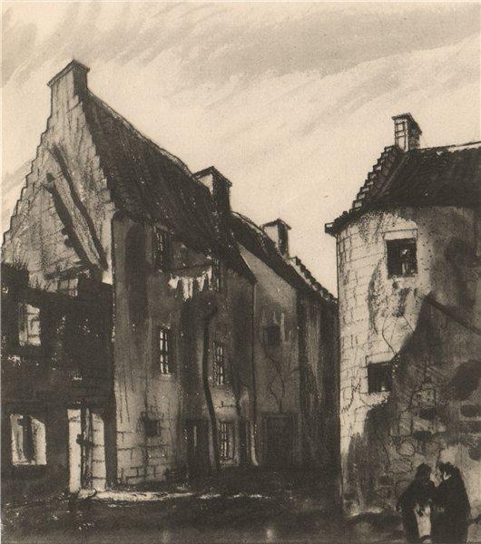 Associate Product CULROSS. Old Tenements. Fife. Scotland. By James Miller 1952 vintage print