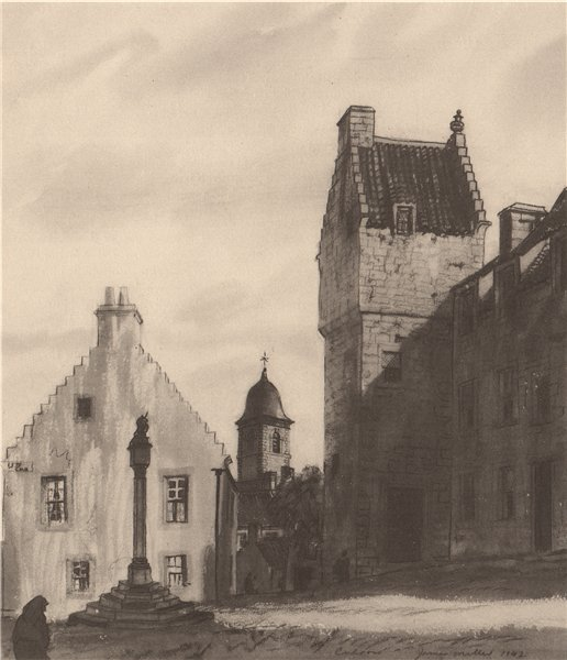 Associate Product CULROSS. The Study. Fife. Scotland. By James Miller 1952 old vintage print