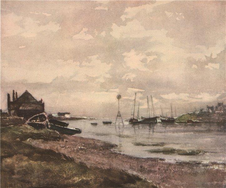 Associate Product MONTROSE. Half-Tide, Rossie Island. Scotland. By Robert B. Nisbet 1952 print