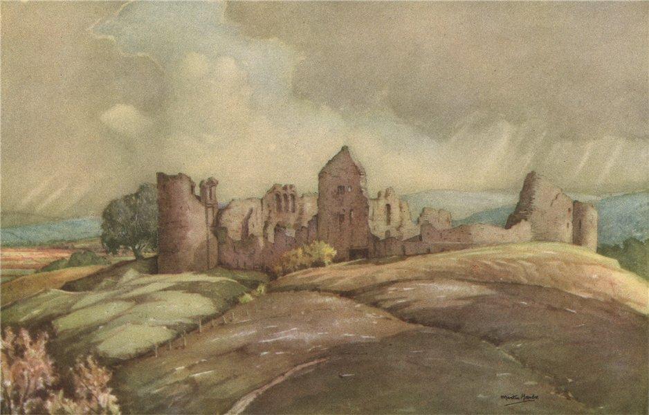 Associate Product KILDRUMMIE. Kildrummie Castle. Scotland. By Martin Hardie 1952 old print