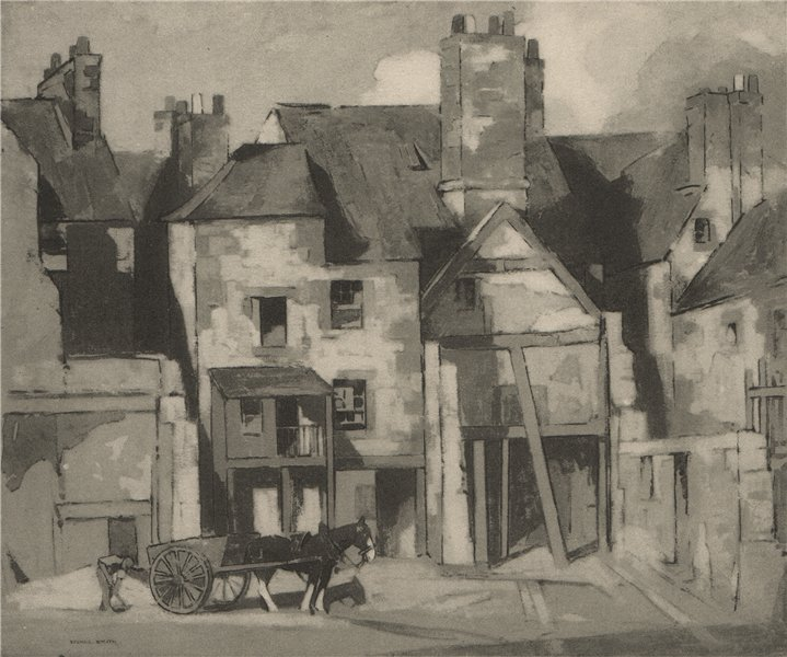 Associate Product PERTH. Skinnergate. Scotland. By John G. Spence Smith 1952 old vintage print