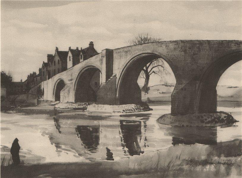 Associate Product STIRLING. Stirling Bridge. Scotland. By James Miller 1952 old vintage print