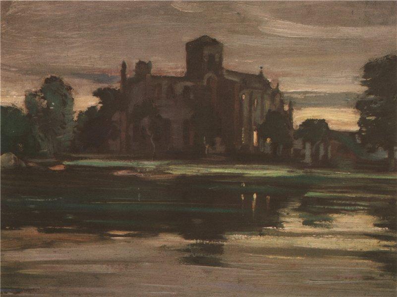 Associate Product HADDINGTON. The church of Haddington. Scotland. By P. Mackie 1952 old print