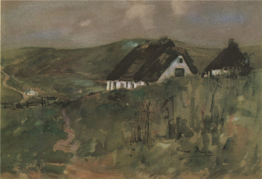 Associate Product WANLOCKHEAD. The High House. Scotland. By Anna Dixon 1952 old vintage print
