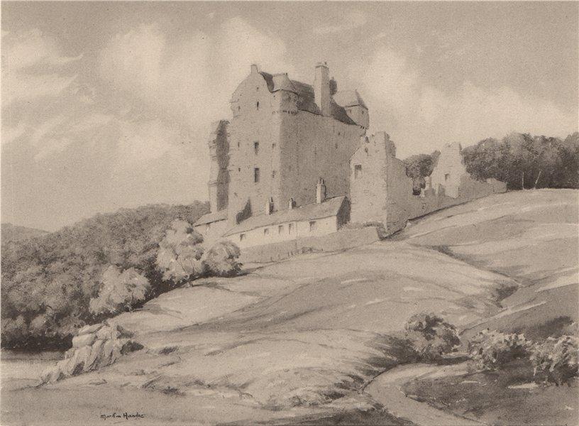 Associate Product NEIDPATH. Neidpath Castle. Scotland. By Martin Hardie 1952 old vintage print