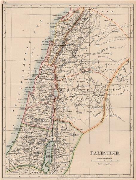Associate Product PALESTINE. Galilee Samaria Judea Perea Phoenicia Decapolis. JOHNSTON 1906 map