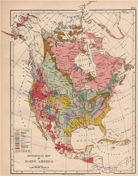 N America Geological Volcanic Tertiary Jurassic Cretaceous C