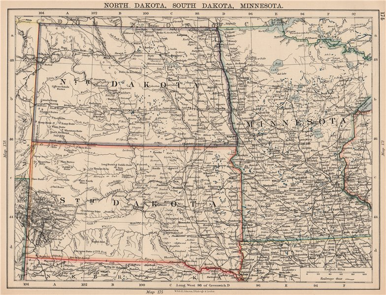 Usa Plains States North Dakota South Dakota Minnesota Railroads