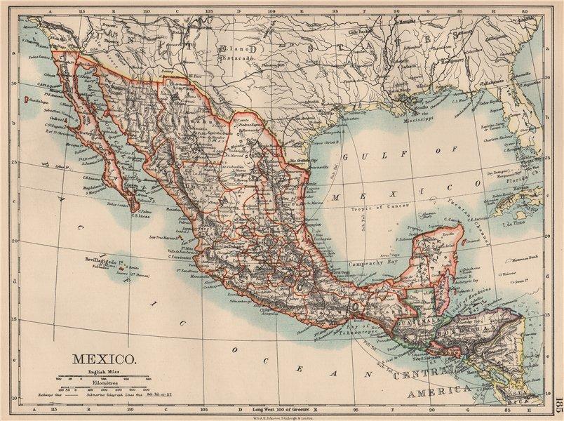 MEXICO. Greater Central America Republic-1895 Amapala treaty. JOHNSTON 1906