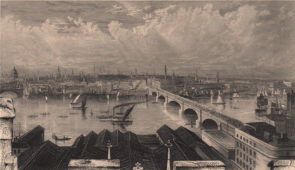 Associate Product LONDON. view from Saint Saviour's tower (Southwark) . FULLARTON 1865 old print