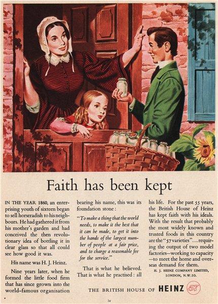 Associate Product HEINZ ADVERT. The H. J. Heinz Co. Ltd. Food 1951 old vintage print picture