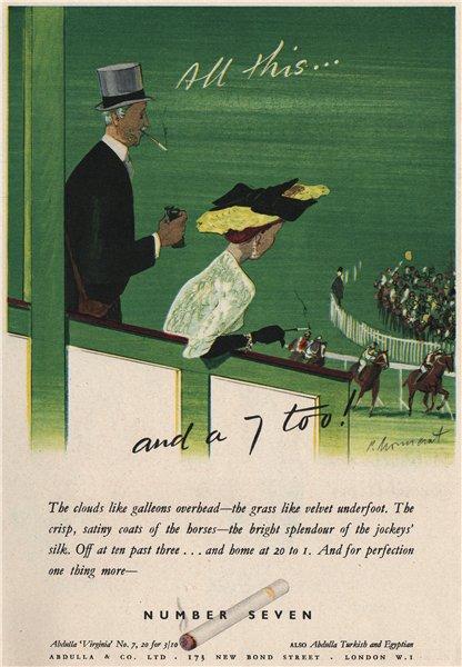 Associate Product TOBACCO ADVERT. Number Seven cigarettes. Abdulla & Co, Bond Street 1951 print