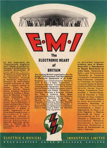 Associate Product EMI ADVERT. Electric & Musical Industries Ltd. Electronics 1951 old print