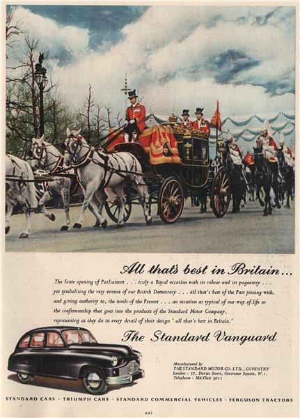 Associate Product STANDARD MOTOR CO ADVERT. Vanguard Triumph Ferguson tractors. Autos 1951 print
