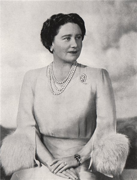 Associate Product ELIZABETH BOWES-LYON. Her Majesty The Queen. Festival of Britain 1951 print