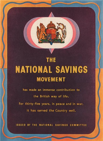 Associate Product FINANCE ADVERT. The National Savings Committee 1951 old vintage print picture