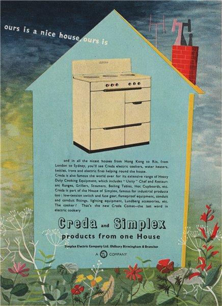 Associate Product DOMESTIC APPLIANCE ADVERT. Simplex Electric Co. Ltd 1951 old vintage print