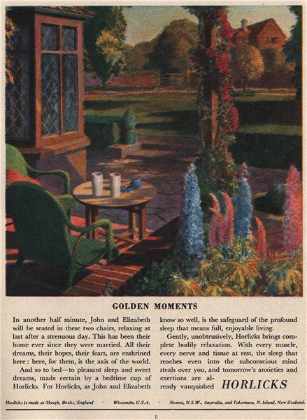 HORLICKS ADVERT. Horlicks, Ltd. Golden Moments. Food 1951 vintage print