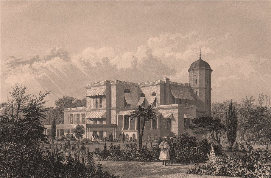 Associate Product BRITISH INDIA. The Residency, Lucknow 1858 old antique vintage print picture