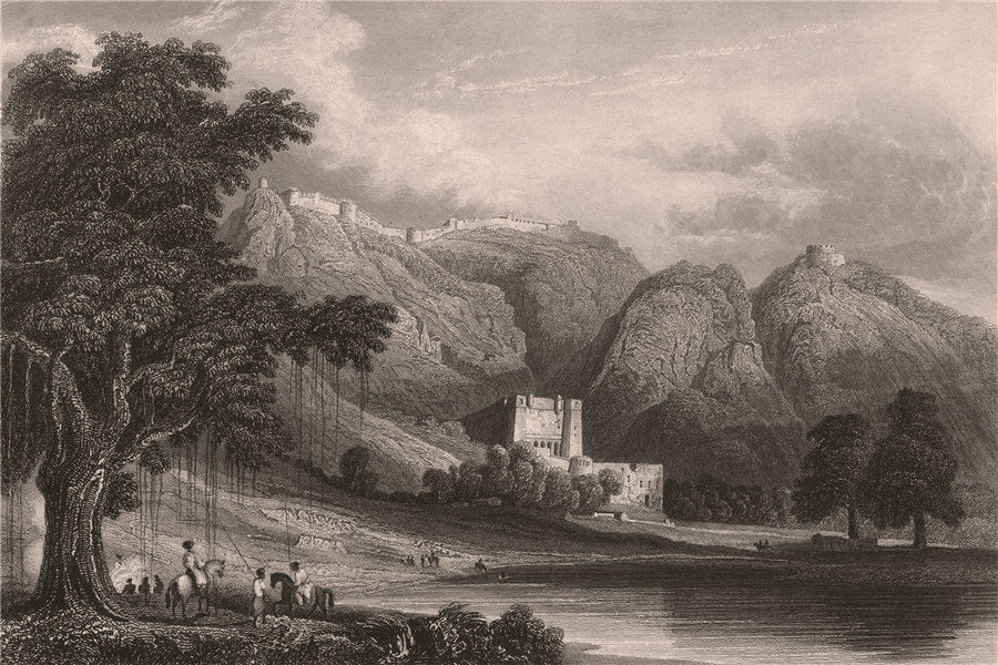 Associate Product BRITISH INDIA. Taragarh fort, Bundi, Rajpootana (Rajasthan) . Bowrie 1858