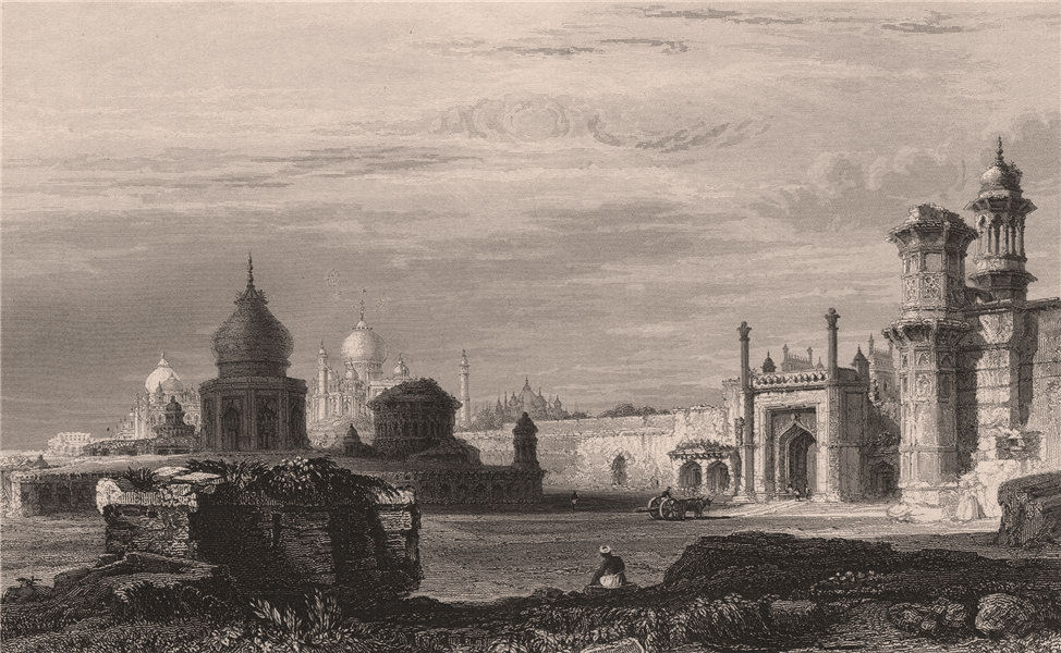 Associate Product BRITISH INDIA. View of Agra 1858 old antique vintage print picture