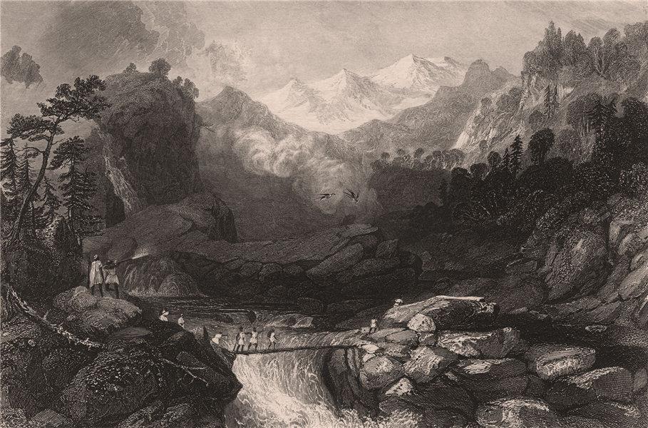 Associate Product INDIAN MUTINY. Fugitive Sepoys taking refuge near Yamunotri, on the Yamuna 1858