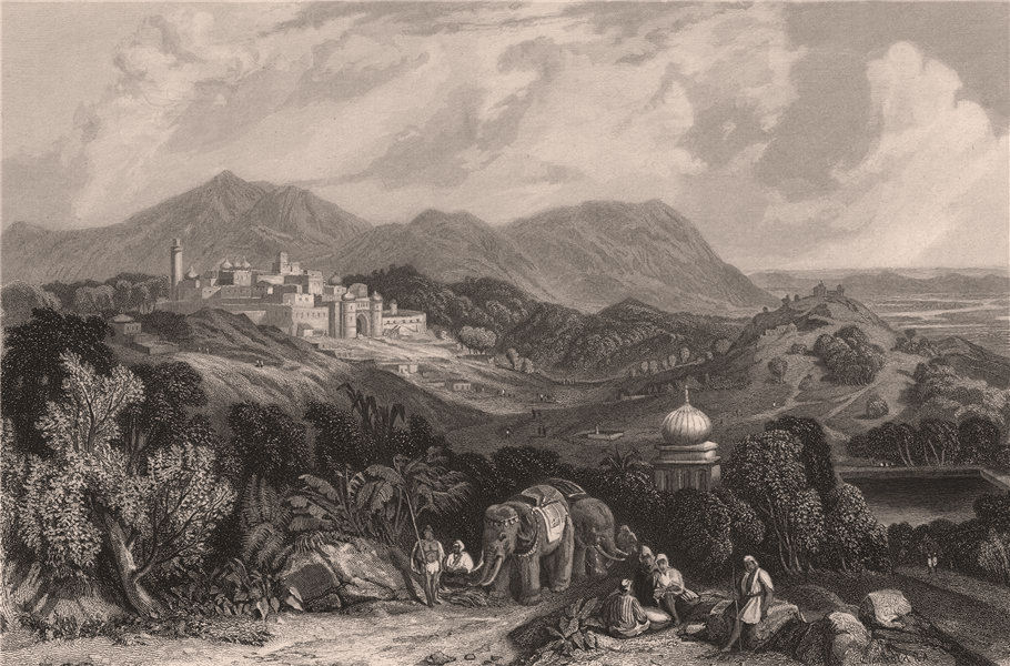 Associate Product BRITISH INDIA. The Fortress of Nahan in the Dominion of Oude (Awadh)  1858