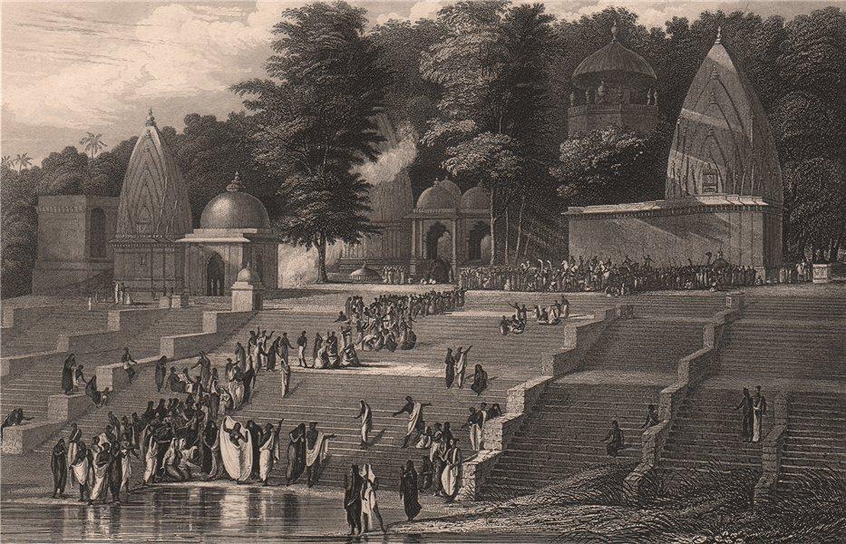 Associate Product BRITISH INDIA. Ganges Sutteeism Sati. Hindu widow prepares for immolation 1858