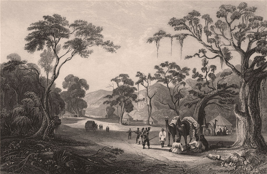 Associate Product BRITISH INDIA. Troops at the Keree pass (Doon valley) north of Meerut 1858