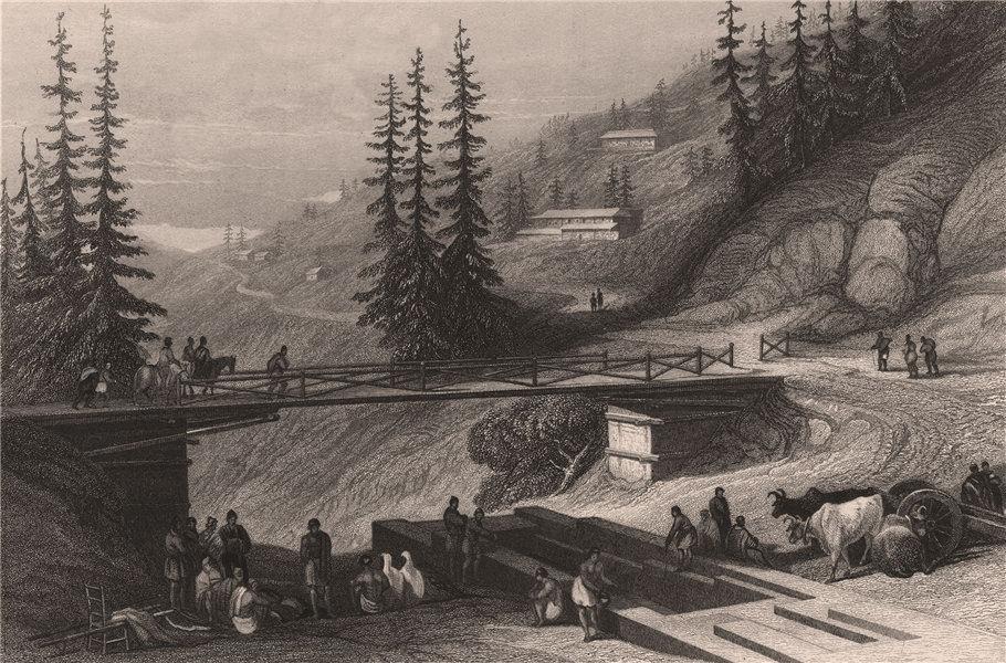 Associate Product BRITISH INDIA. Shimla, near Bilaspur. ALLEN ROBERTS 1858 old antique print