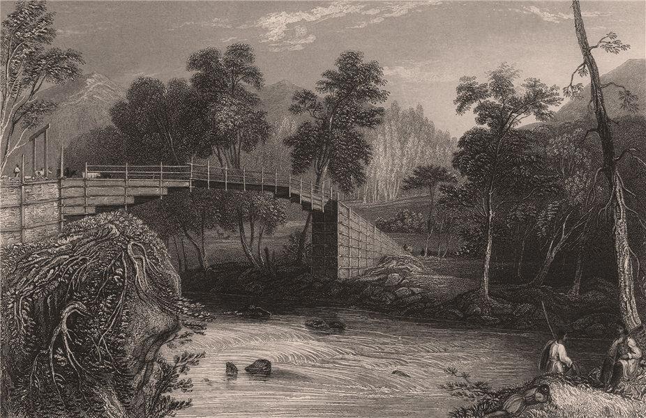Associate Product BRITISH INDIA. Bridge at Barkot. FINDEN 1858 old antique vintage print picture