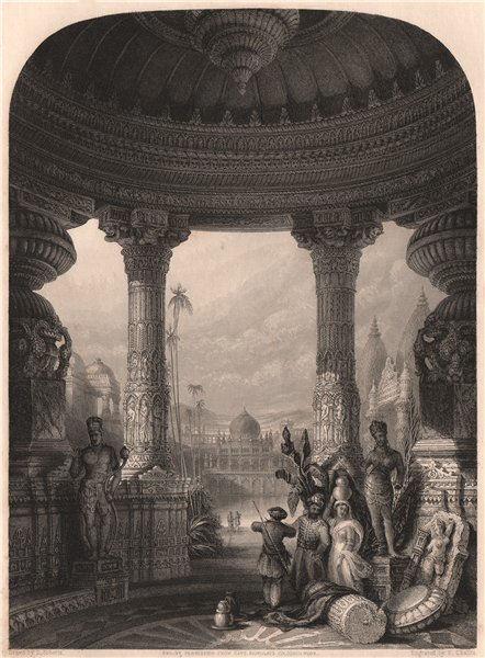 Associate Product BRITISH INDIA. Hindu and Muslim Buildings. ROBERTS 1858 old antique print